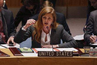 Саманта Пауэр на заседании  Совбеза ООН