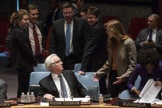 Представители России и США в ООН