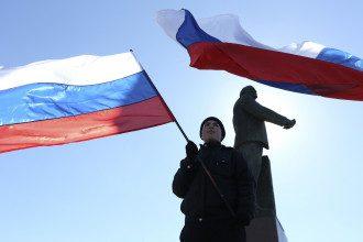 Российские флаги в Крым