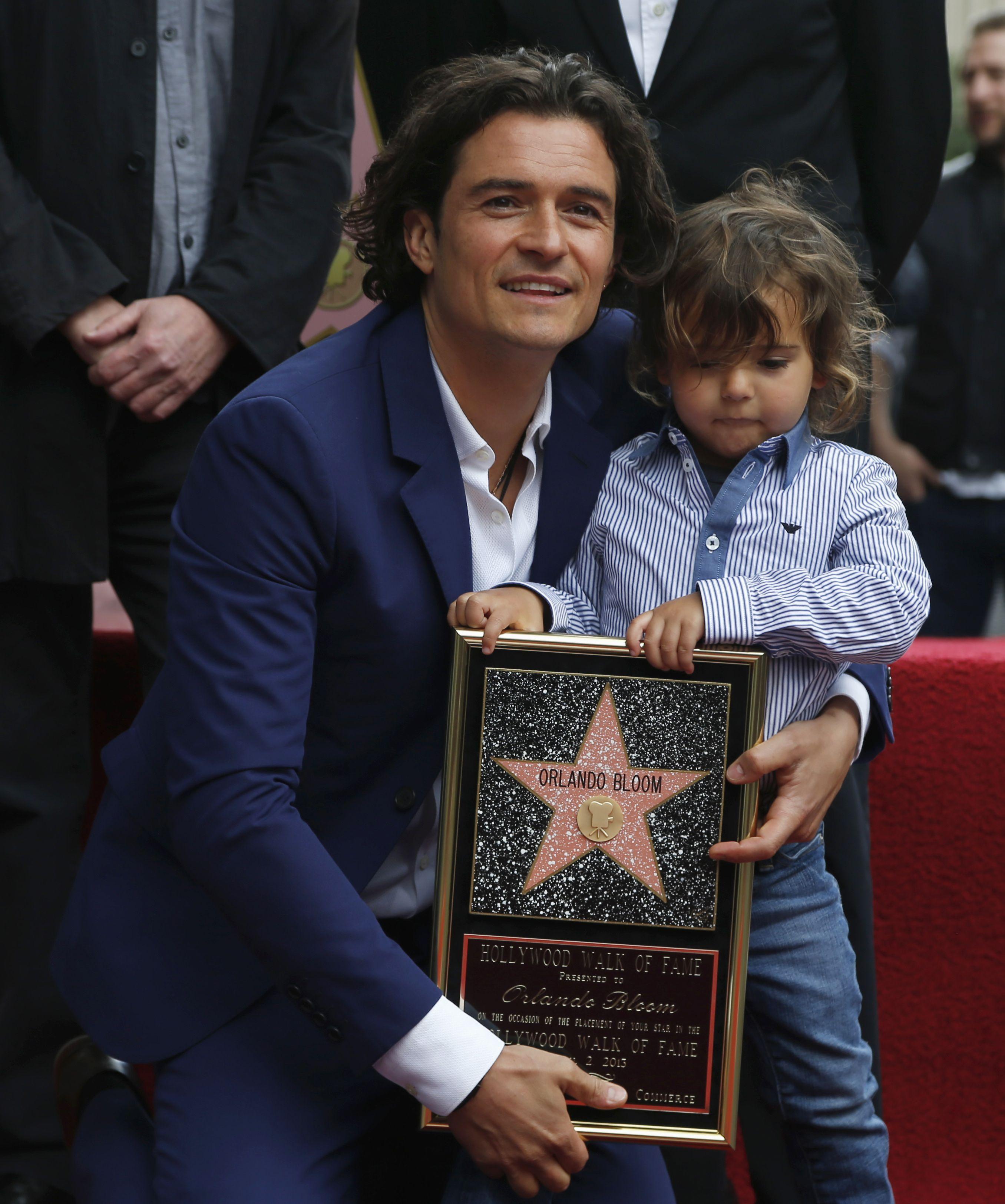 Орландо Блум свою звезду на Аллее славы открывал вместе с сыном