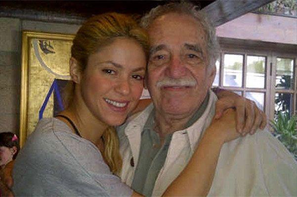 Певица Шакира и Габриэль Гарсия Маркес