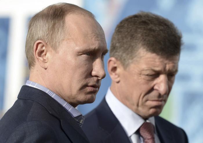 Владимир Путин и Дмитрий Козак