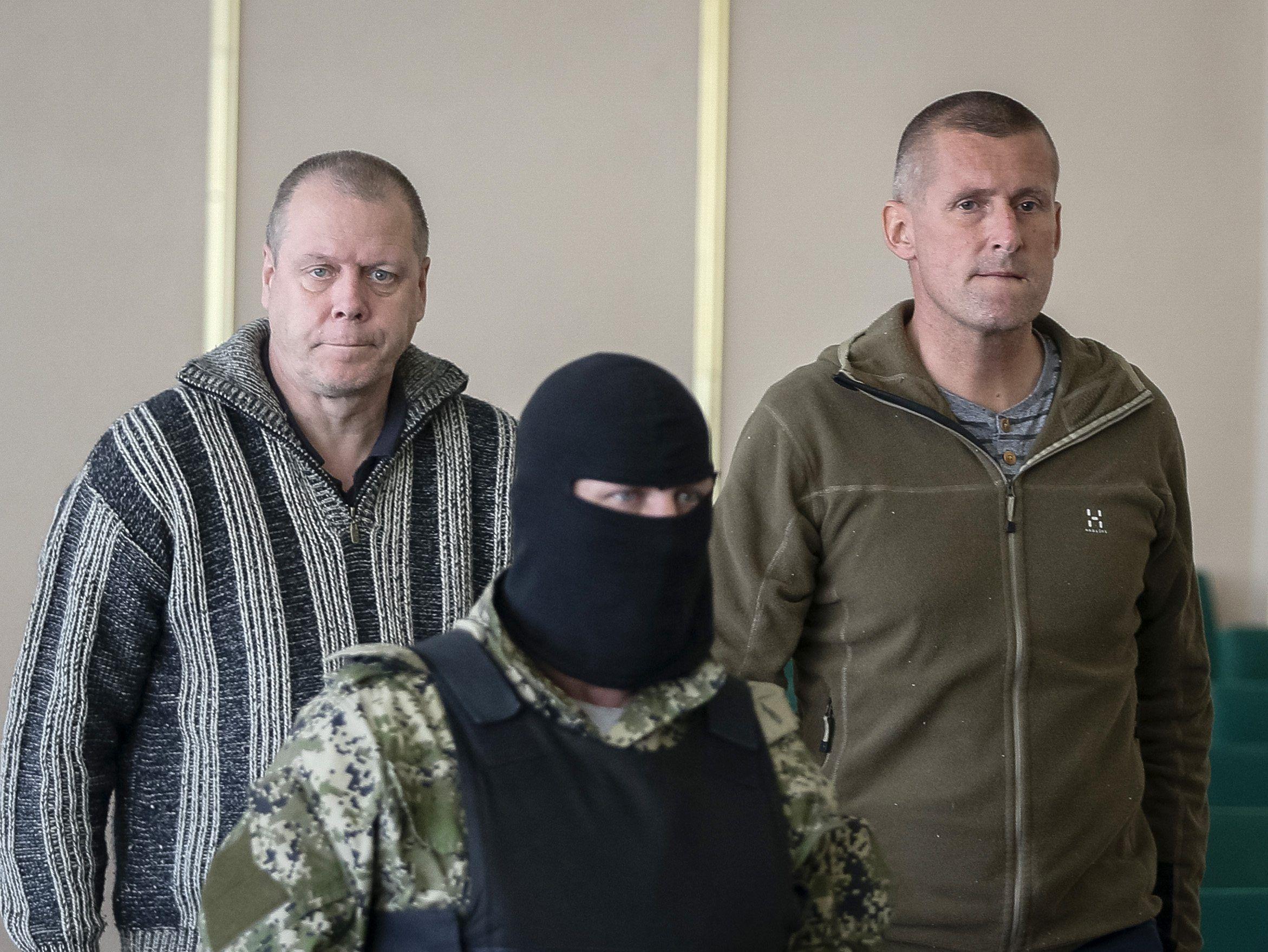 Наблюдатели ОБСЕ, захваченные в Славянске