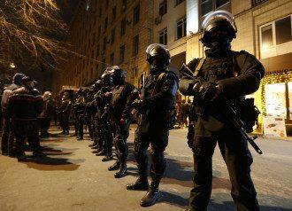 После стрельбы центр Киева блокировали силовики
