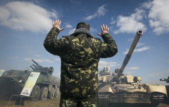 Военные учения в поселка Десна на Черниговщине
