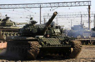 Российский танк в Крыму