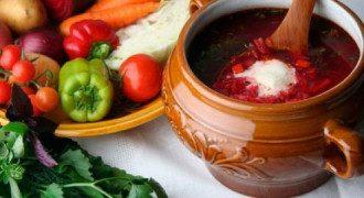 борщ, овощи