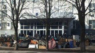 Захваченное здание СБУ в Донецке