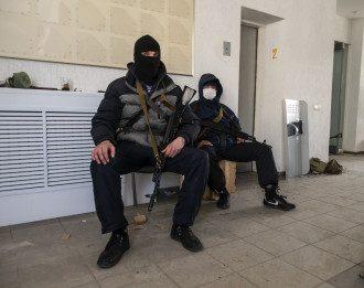 Вооруженные сепаратисты в Луганске