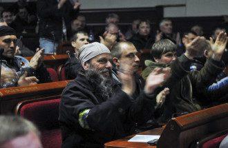 Сепаратисты в захваченной Донецкой ОГА