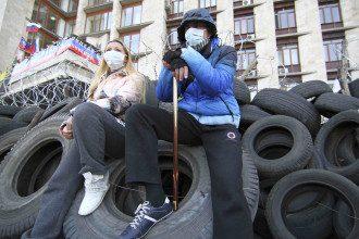Захваченная ОГА в Донецке