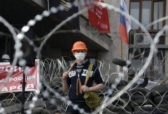 Сепаратист в Донецке