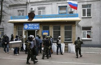 Захват милиции в Славянске