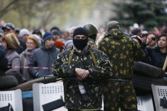 Фото из-под захваченной милиции Славянска