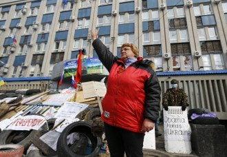 Пророссийский митинг в Луганске