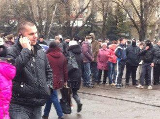 Штурм милиции в Горловке, фото с места событий