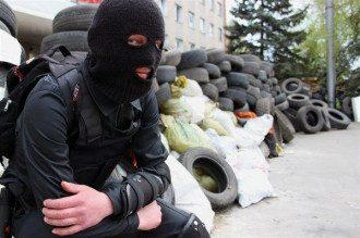 Блокпост боевиков в Горловке