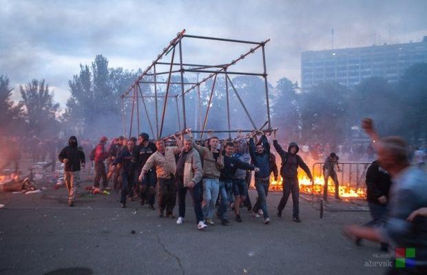 Пожар под Домом профсоюзов