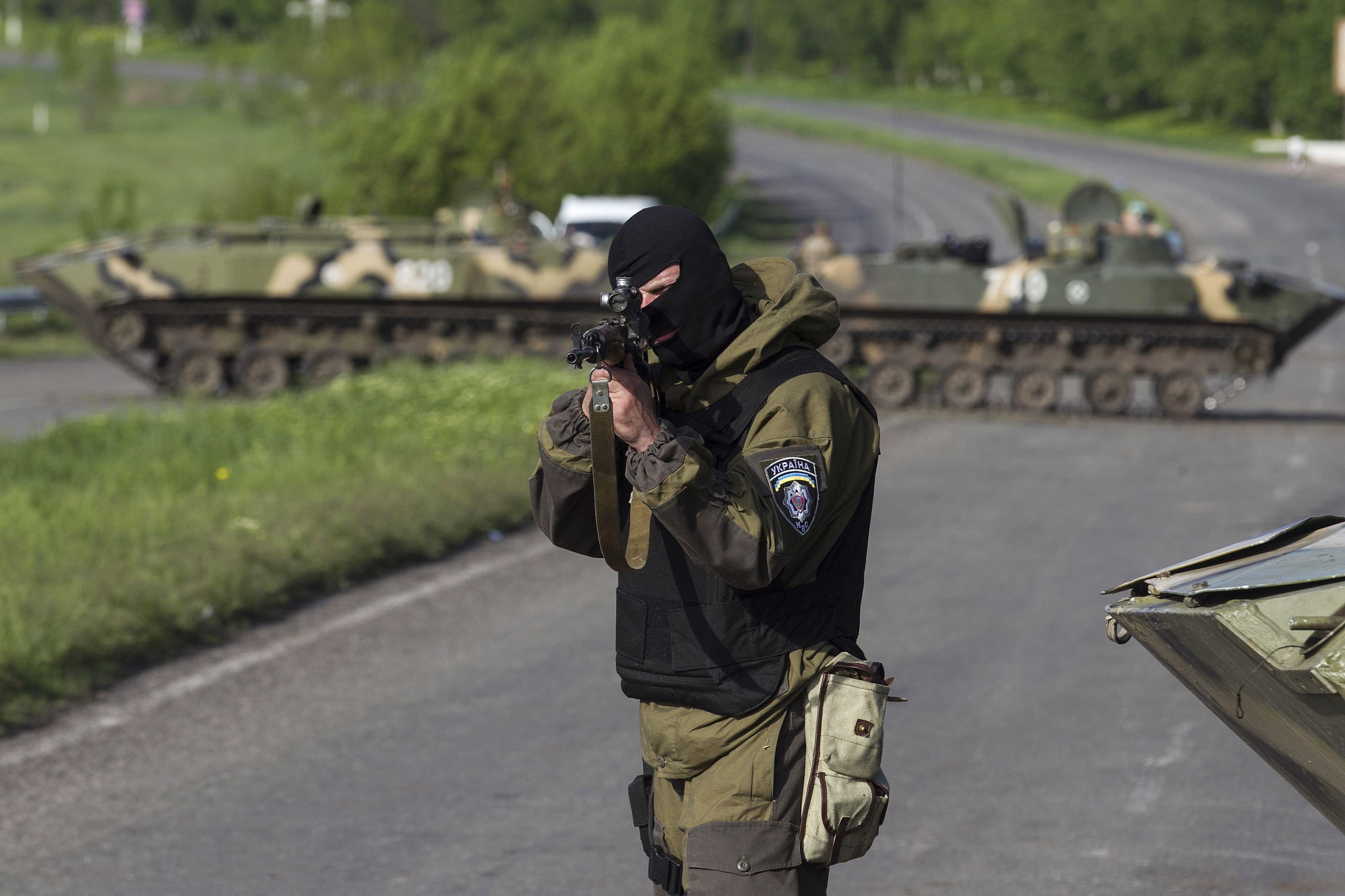 Украинские силовики в Славянске