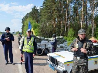 Блок-пост под Киевом
