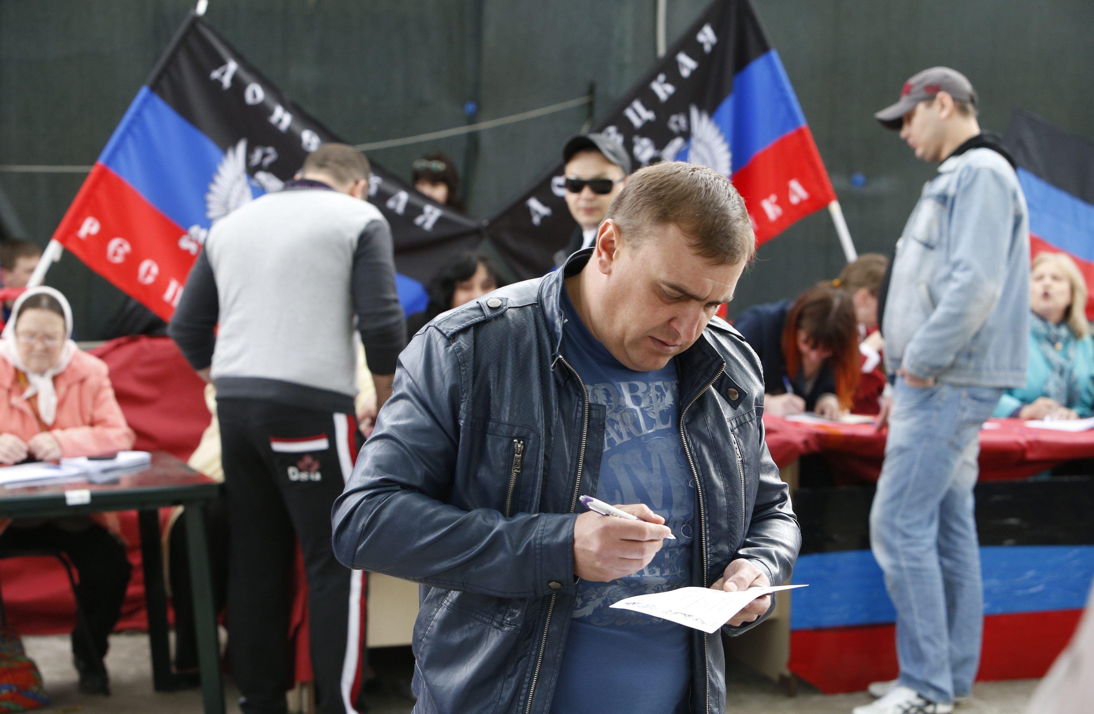 12 мая 2014 года боевики  провели псевдореферендум о