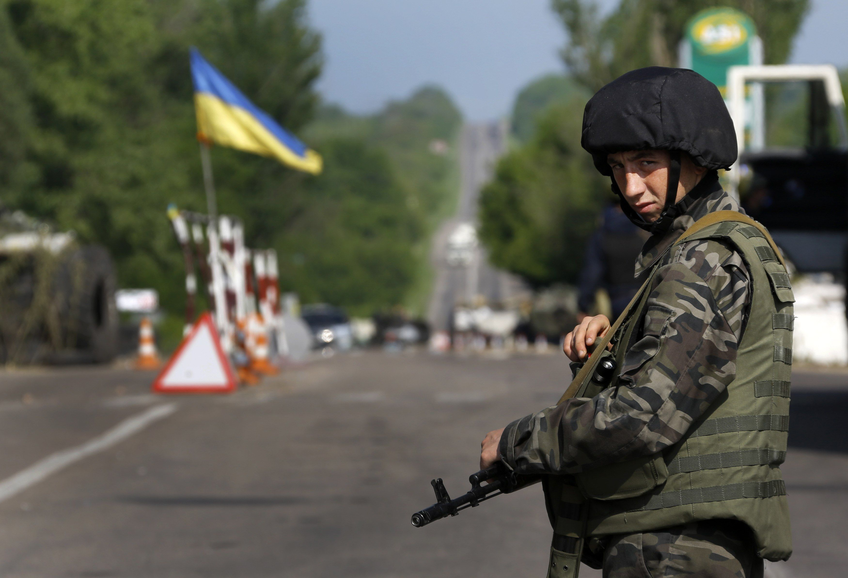 Блокпост на Донбассе. Иллюстрация