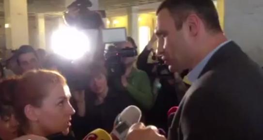 Леся Оробец и Виталий Кличко