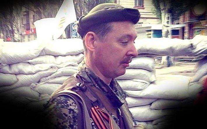 Гиркин возле баррикады в Славянске