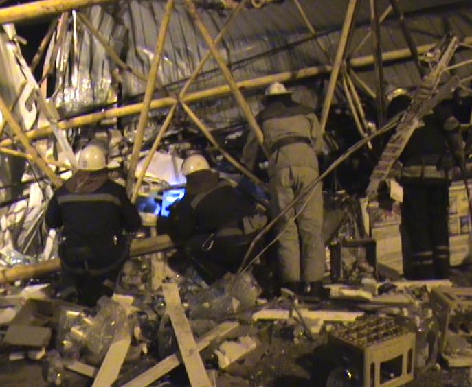 Упавший кран в Харькове