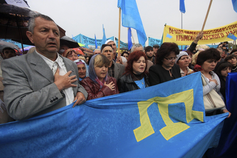 Крымские татары на митинге к 70-летию депортации с полуострова