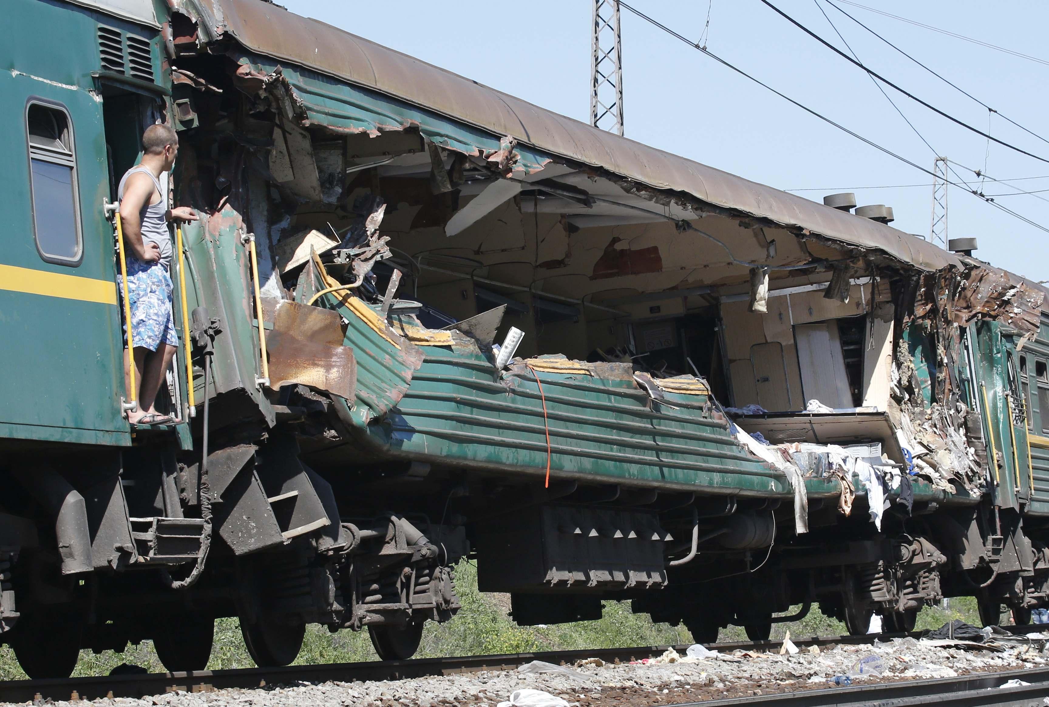 в подмосковье столкнулись грузовой и пассажирский поезда есть жертвы - 7