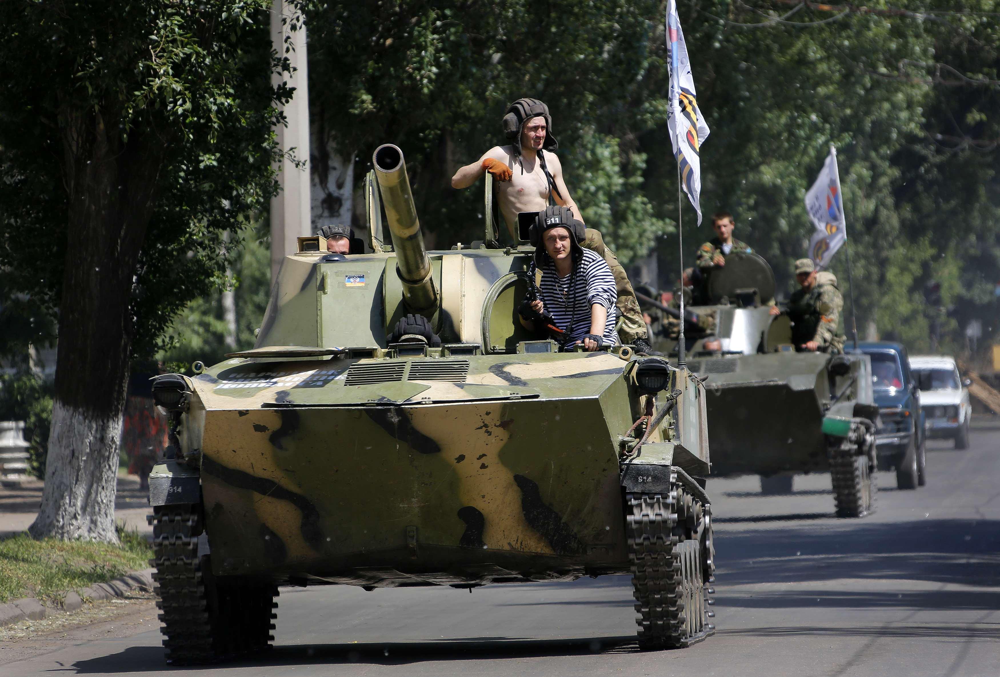 У террористов в Славянске есть даже 120-мм самоходка