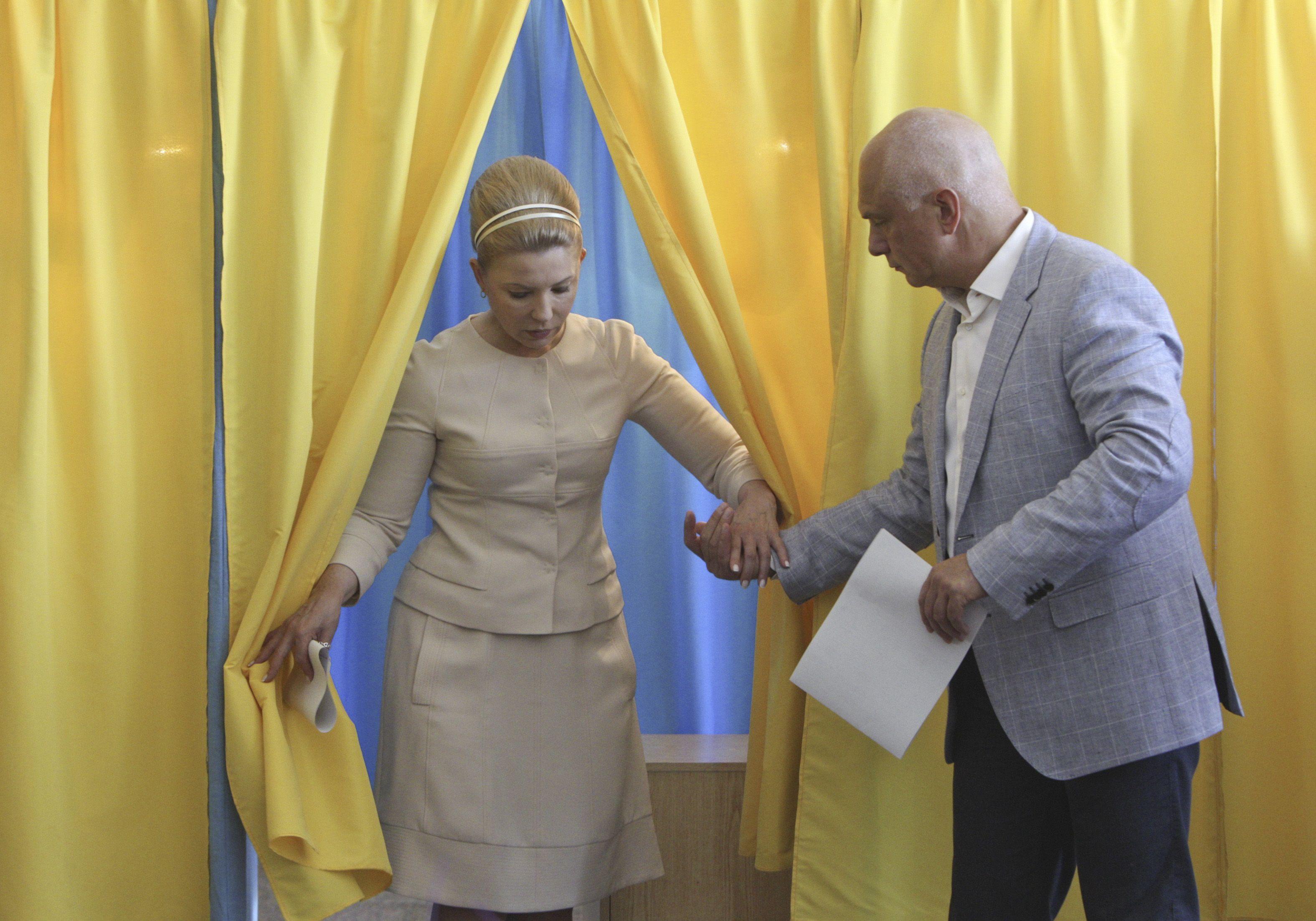 Юлия Тимошенко голосовала в Днепропетровске
