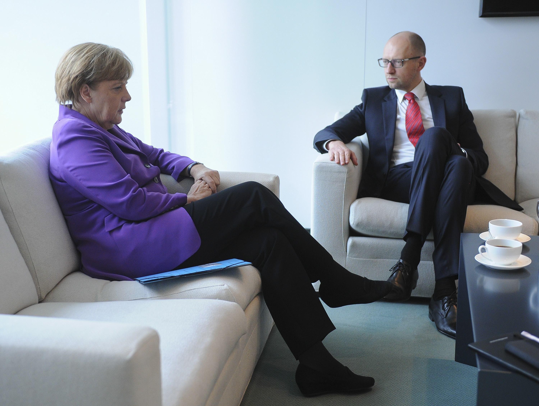 Встреча Яценюка и Меркель