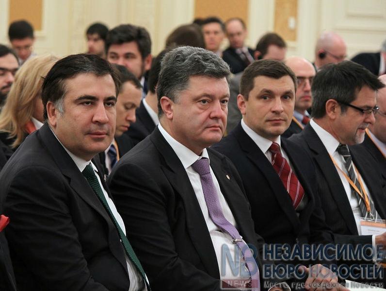 Петр Порошенко и Михеил Саакашвили.