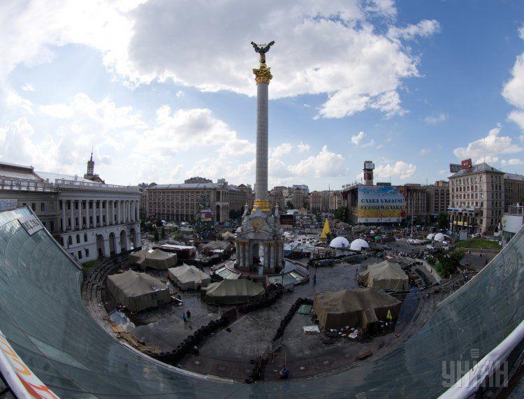 Вид на Майдан Независимости, 30 мая