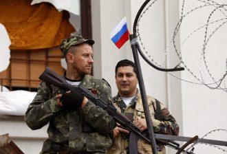 пророссийские терористы, Луганск