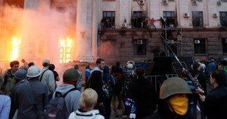 Дом профсоюзов в Одессе, 2 мая