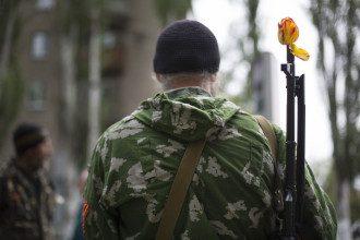 Пророссийский экстремист в Славянске