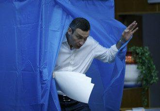 Кличко на выборах в Киеве