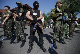 Пророссийские боевики на Донбассе, иллюстрация