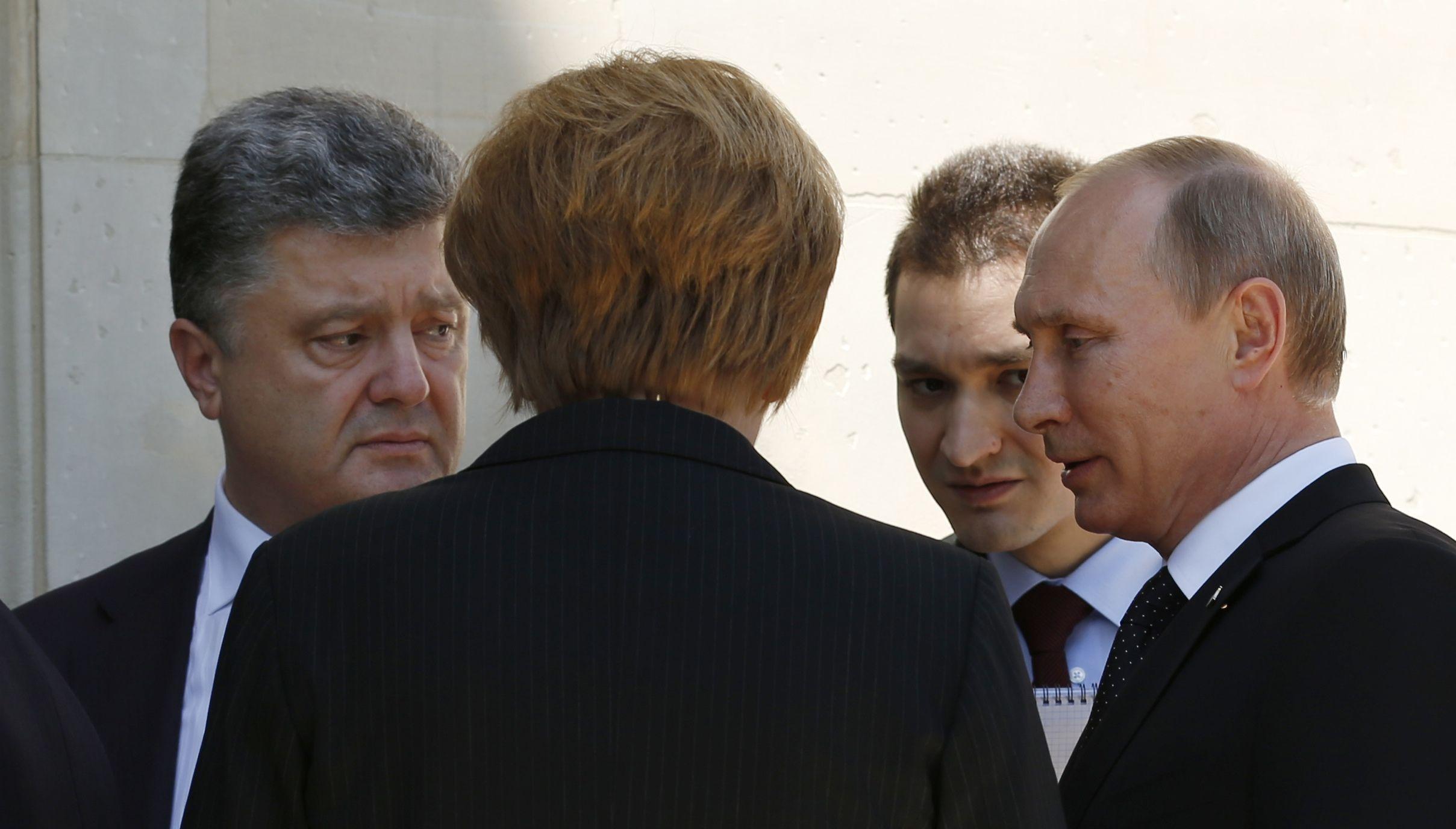 Встреча Порошенко и Путина во Франции, иллюстрация