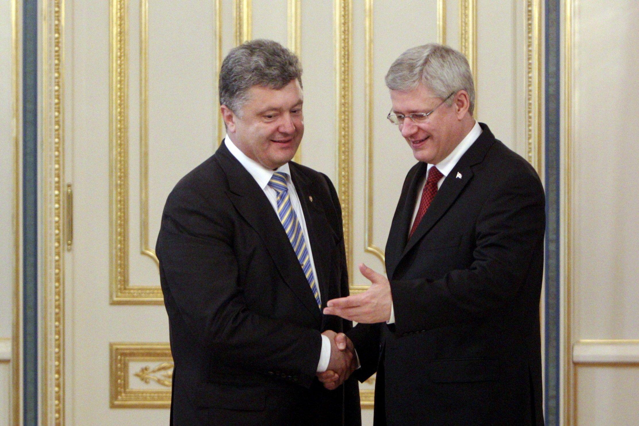 Встреча Порошенко и Харпера в Киеве