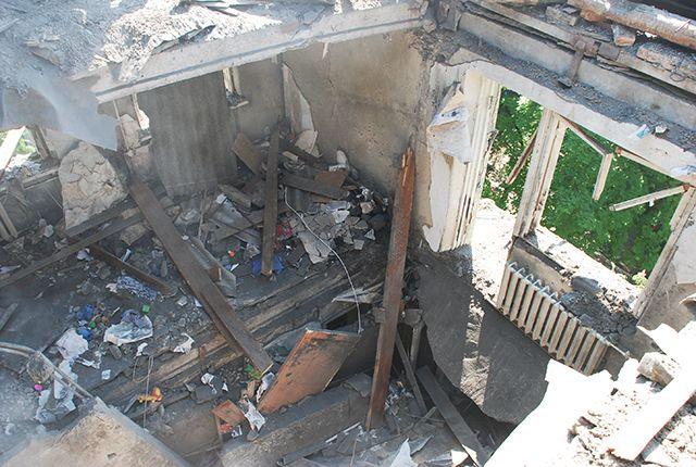 Фото с места взрыва дома в Николаеве