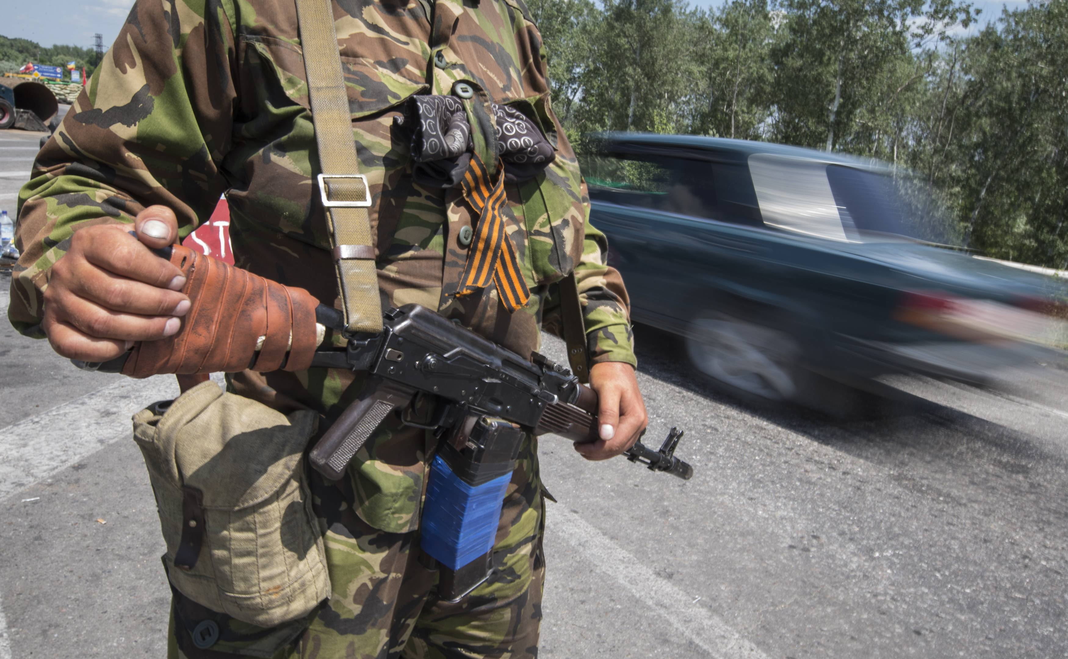 Террорист в Луганске