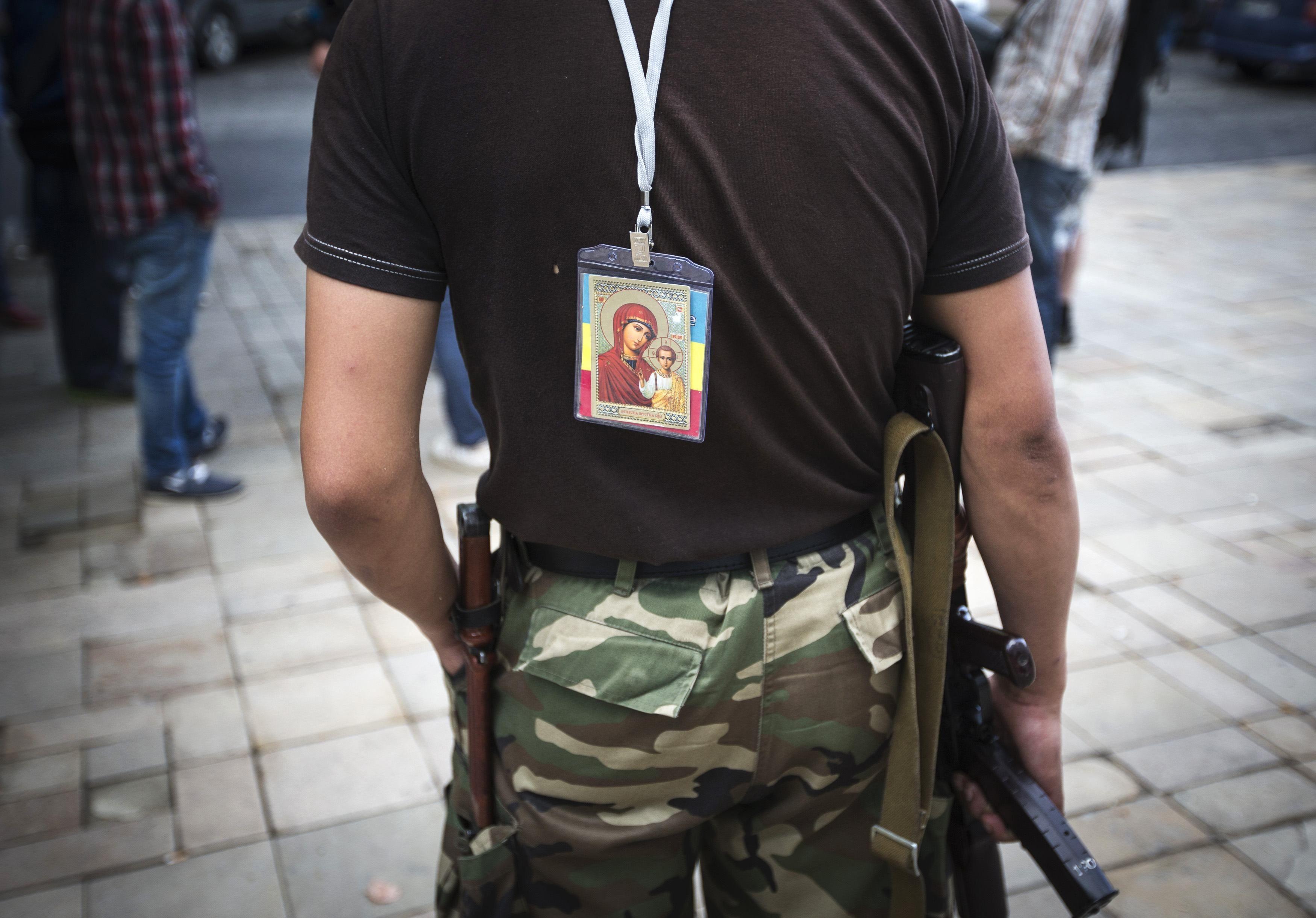 Боевик в центре Луганска