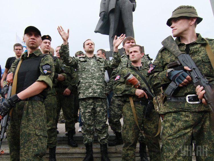 Террористы ДНР в центре Донецка