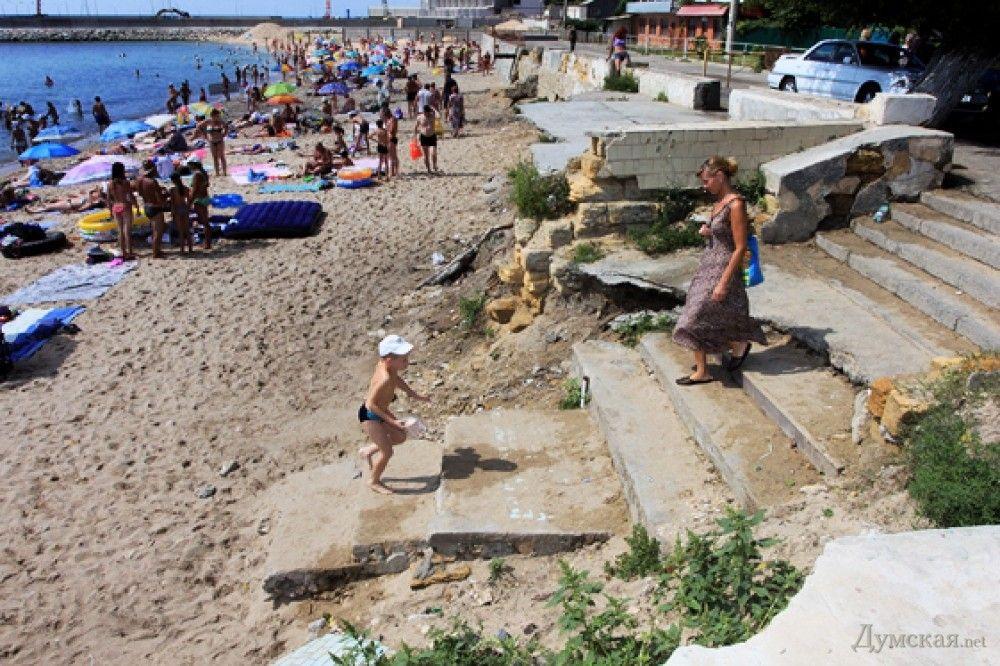 Пляж Черноморки до