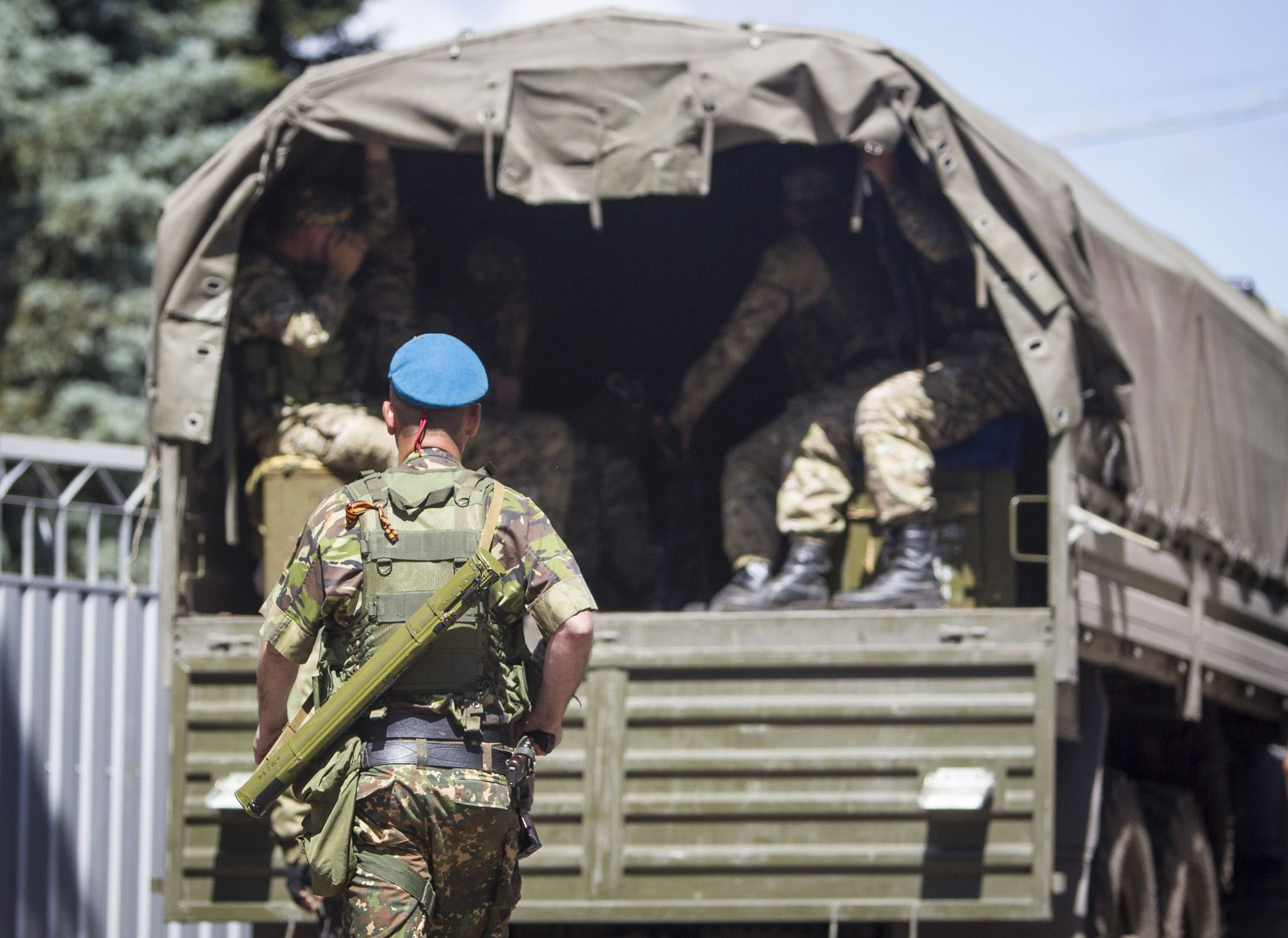 Боевики в Донеце