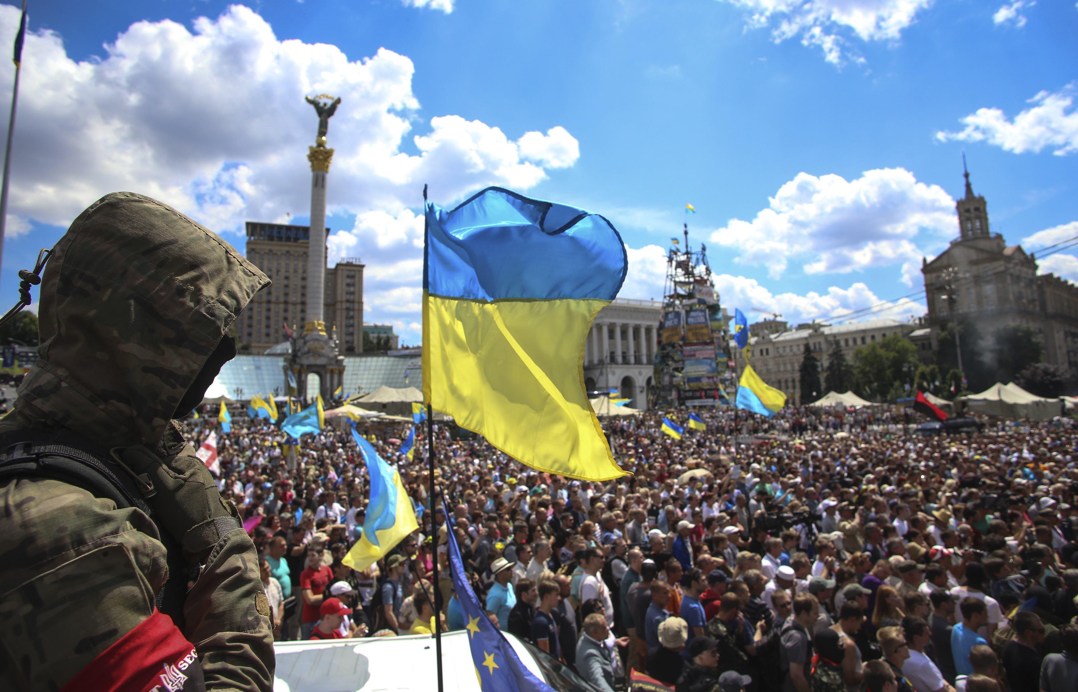 Акция на Майдане Независимости